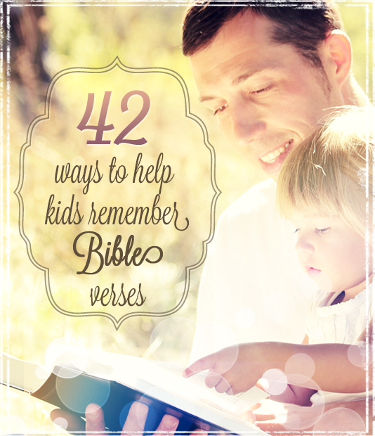 42 Bible Memory Games for Kids