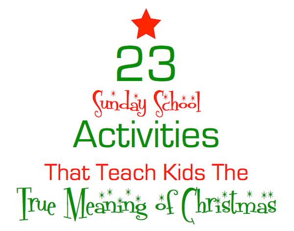 Christmas Sunday School Lesson Pack
